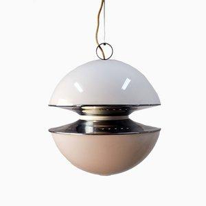 Deckenlampe aus Stahl & Plexiglas von Esperia, 1970er