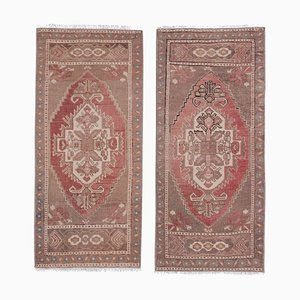 Small Turkish Muted Neutral Color Rugs, 1970s, Set of 2