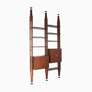 Mid-Century Bücherregal aus Teak von Poggi, 1950er