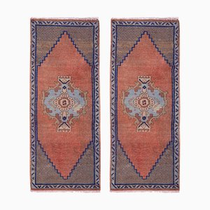 Small Turkish Handmade Door Mats or Rugs, 1970s, Set of 2