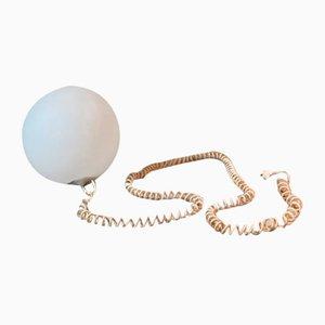 White Plastic Ball Table Lamp, 1970s