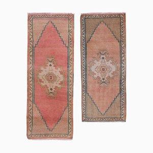 Kleine türkische Teppiche im traditionellen orientalischen Stil, 1970er, 2er Set
