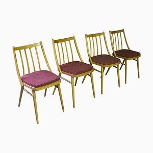 Tschechoslowakische Vintage Esszimmerstühle von Ton, 1960er, 4er Set