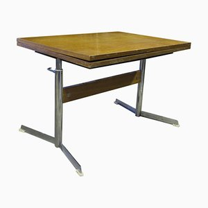 Folding Coffee or Dining Table on Chrome Metal Base, 1960s