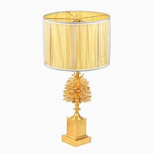 Pinecone Tischlampe aus vergoldeter Bronze von Maison Charles, 1970er