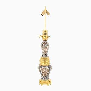 Große Tischlampe aus Imari-Porzellan und vergoldeter Bronze, 1880er