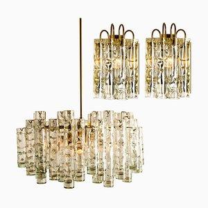 Geblasene Leuchten von Doria Leuchten Germany, 1960er, 4er Set