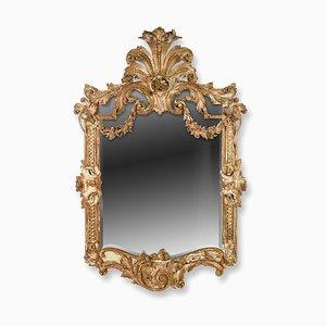Großer Louis XVI Spiegel mit vergoldetem Holzrahmen