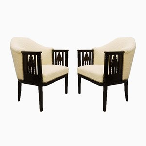 Austrian Armchairs, 1910s, Set of 2