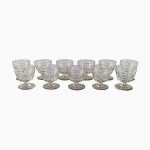 Bicchieri Art Deco di Baccarat, Francia, anni '30, set di 11