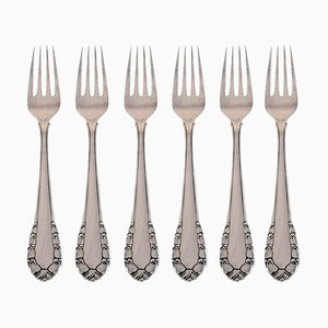 Georg Jensen Lily of the Valley Dinner Fork in Sterling Silver, 1940s