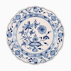 Assiette Antique Meissen Onion Blue en Porcelaine Peinte à la Main