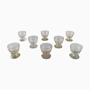 Art Deco Facet Cut Glasses from Baccarat, France, 1930s, Set of 8
