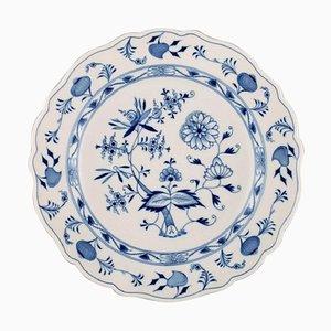 Grand Bol ou Bac Antique Oniss Meissen Bleu en Porcelaine Peinte à la Main