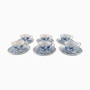 Tazas de café Meissen Blue Onion en porcelana. Juego de 12