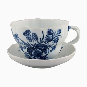 Large and Rare Meissen Blue Onion Morning or Chocolate Cup with Saucer, Set of 2