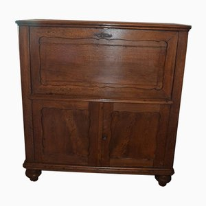Antique Biedermeier Oak Secretaire