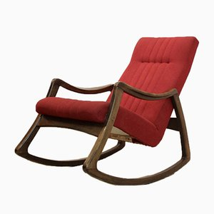 Beech Rocking Chair from Ton, 1960s