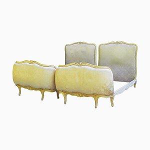 Französische Vintage Einzelbetten, 1920er, 2er Set