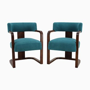 Art Deco Armchairs, Czechoslovakia, 1930s, Set of 2