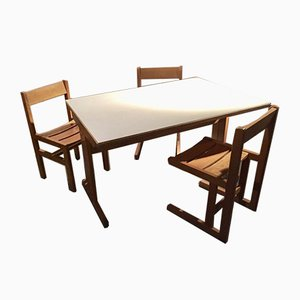 Vintage Table & Chairs Set by Andre Sornay, 1960s