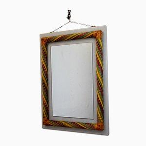 Italienischer Bambus Spiegel, 1980er