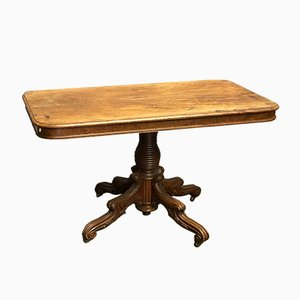 Antique Regency Dining Table on Wheels