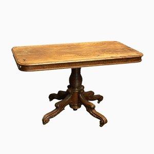 Antique Regency Dining Table on Wheels