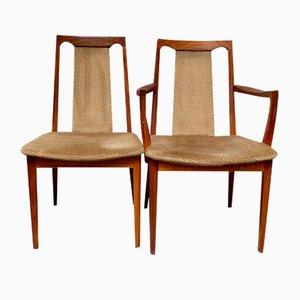 Vintage Teak Esszimmerstühle von G-Plan, 1970er, 4er Set