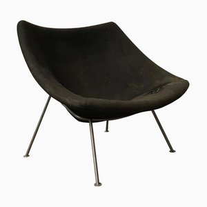 Large Black Fabric Model F157 Oyster Easy Chair by Pierre Paulin for Artifort, 1960s
