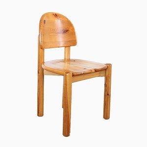Vintage Danish Pinewood Dining Chairs by Rainer Daumiller for Hirtshals Savvaerk, Set of 4