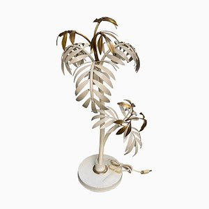 Lampada da tavolo vintage a forma di palma, anni '70