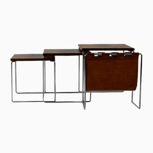 Rosewood Mimiset Nesting Tables with Magazine Rack from Brabantia, 1970s