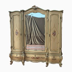 Antique Baroque Style Italian Lacquered and Painted Cabinet, 1910s