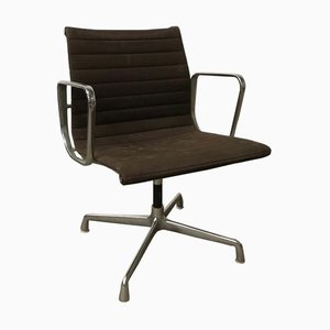 Brown Hopsak Fabic Model EA 108 Dining Chair by Charles & Ray Eames for Herman Miller, 1980s