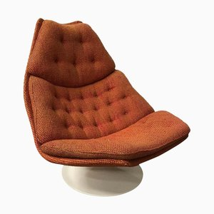 Terra Fabric Model F 590 Lounge Chair by Geoffrey Harcourt for Artifort, 1970s