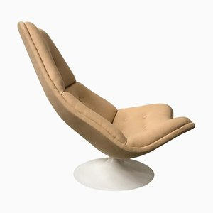 Caramel Fabric Model F 590 Lounge Chair by Geoffrey Harcourt for Artifort, 1970s