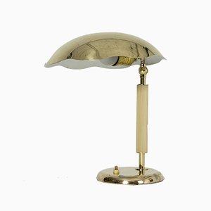 Messing Tischlampe von Böhlmarks, 1930er