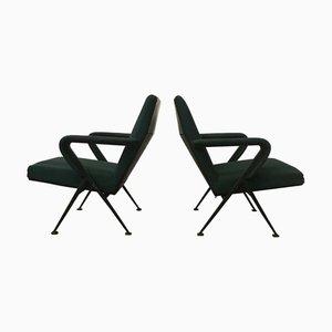 Green Lounge Chair by Friso Kramer for Ahrend De Cirkel, 1970s