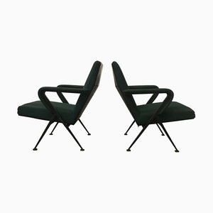 Green Lounge Chairs by Friso Kramer for Ahrend De Cirkel, 1970s, Set of 2