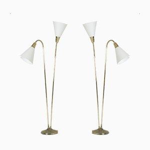 Messing Stehlampen von Sonja Katzin für ASEA, 1950er, 2er Set