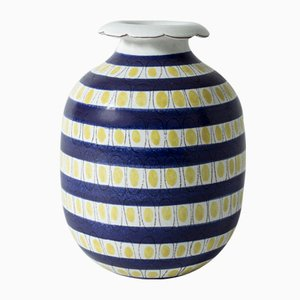 Faience Vase by Stig Lindberg for Gustavsberg, 1940s