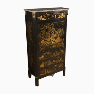 French Lacquered Chinoiserie Secretaire, 1920s