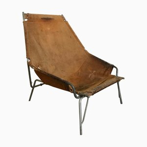 Suede Model J361 Lounge Chair by Erik Ole Jørgensen for Bovirke, 1960s