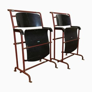 Black Painted Plywood Folding Chairs by Gerrit Rietveld for Hopmi Factory, 1930s, Set of 2
