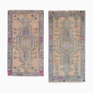 Small Turkish Distressed Rugs, 1970s, Set of 2