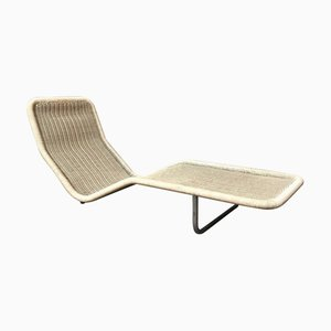 German Plastic and Wicker Model F10 Chaise Lounge by Antti Nurmesniemi for Tecta, 1970s
