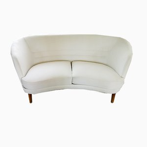Mid-Century Swedish Curved Sofa and Chair Set from OPE, 1950s