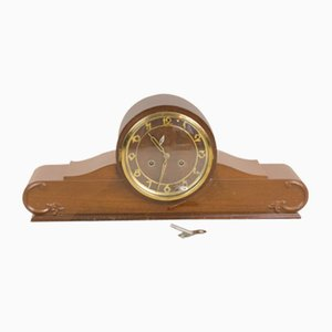 Large Mid-Century Fireplace Clock