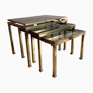 Tables Gigognes Mid-Century par Guy Lefevre pour Maison Jansen